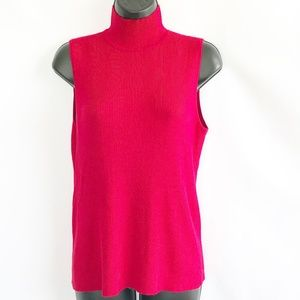 Chico's Sleeveless Red Turtle Neck Blouse Top